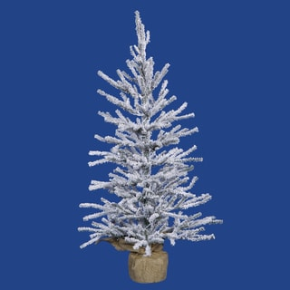 Vickerman White/Green Plastic 36-inch Frosted Angel Pine Unlit Artificial Christmas Tree