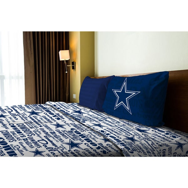 NFL 820 Cowboys Anthem Twin Sheet Set