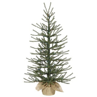 Vickerman Green Plastic 48-inch Angel Pine Unlit Artificial Christmas Tree