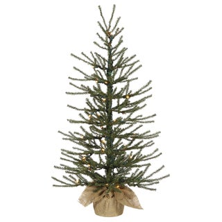 Vickerman Green PVC 36-inch Angel Pine Artificial Christmas Tree With 50 Warm White LED Lights