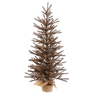 Vickerman Chocolate 48-inch Unlit Artificial Christmas Tree