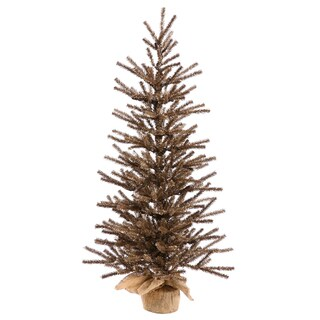 Vickerman Chocolate Brown 36-inch Unlit Artificial Christmas Tree