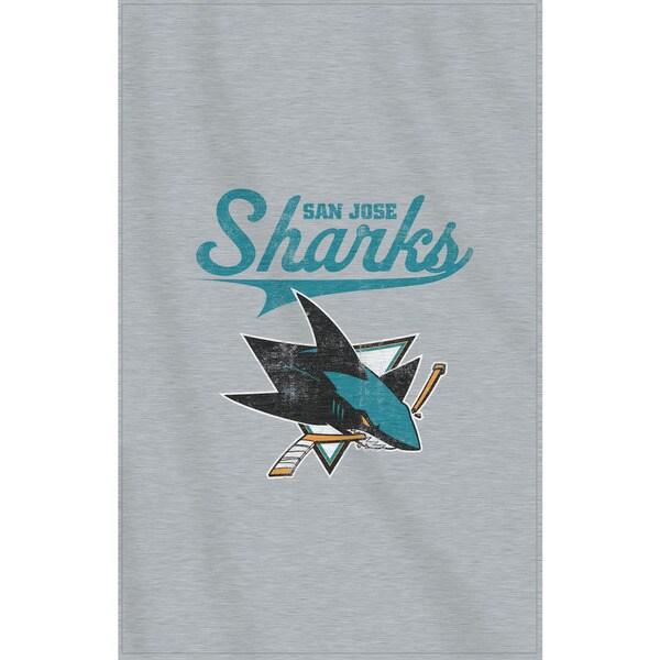 NHL 100 Sharks Sweatshirt Throw
