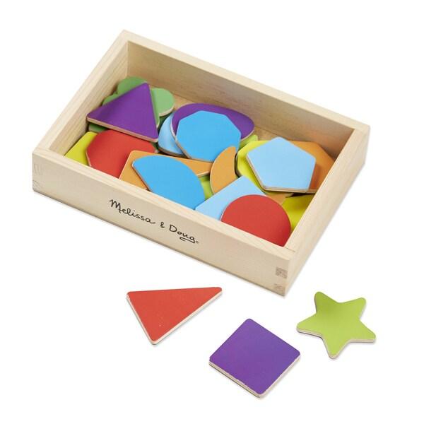 Melissa & Doug Wooden Shape Magnets
