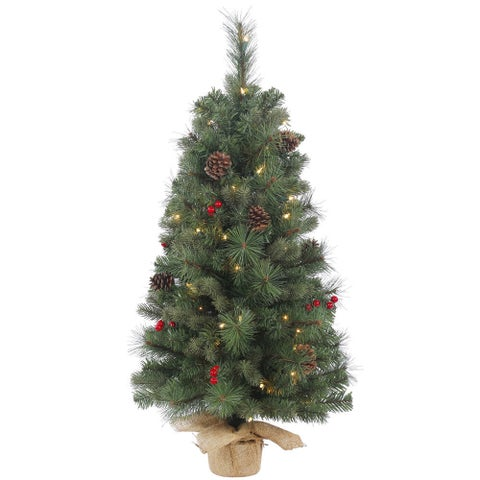 Vickerman Wesley Mixed Pine 36-inch Artificial Christmas Tree With 50 Clear Lights