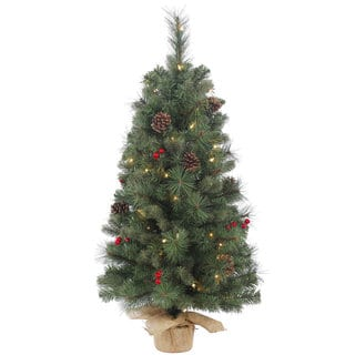 clearance vickerman wesley mixed pine 36 inch artificial christmas tree with 50 clear lights - Artificial Christmas Trees On Sale Clearance