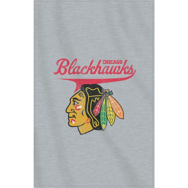NHL 100 Blackhawks Sweatshirt Throw