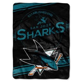 NHL 801 Sharks Stamp Raschel Throw