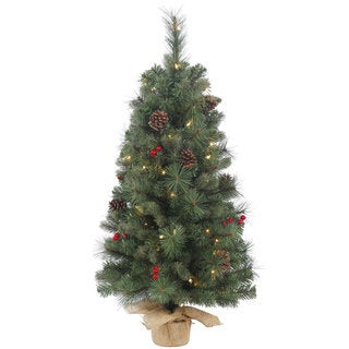 Vickerman Wesley Mixed Pine 18-inch Artificial Christmas Tree With 20 Clear Lights