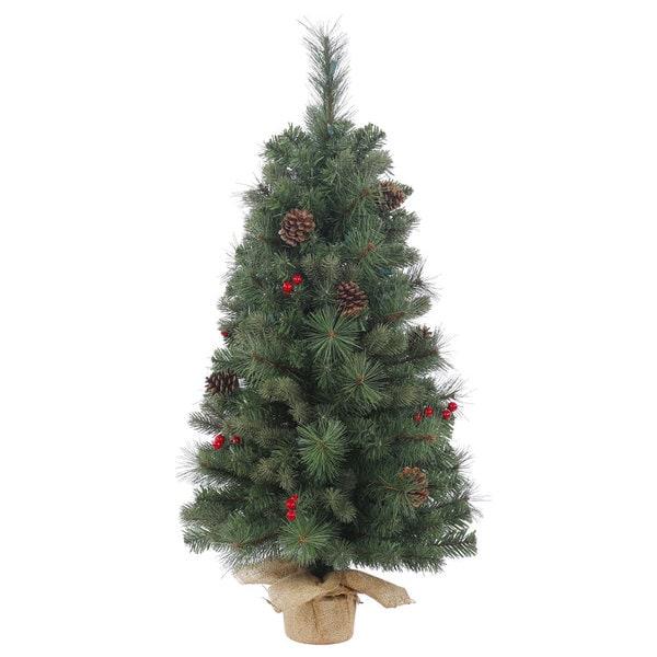 Shop Vickerman Wesley Mixed Pine 18-inch Unlit Artificial ...