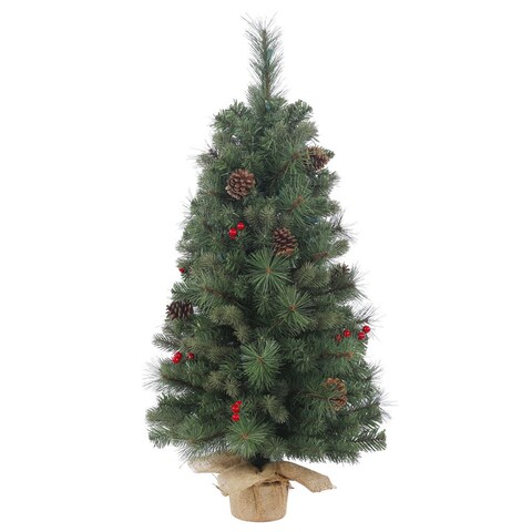 Vickerman Wesley Mixed Pine 18-inch Unlit Artificial Christmas Tree