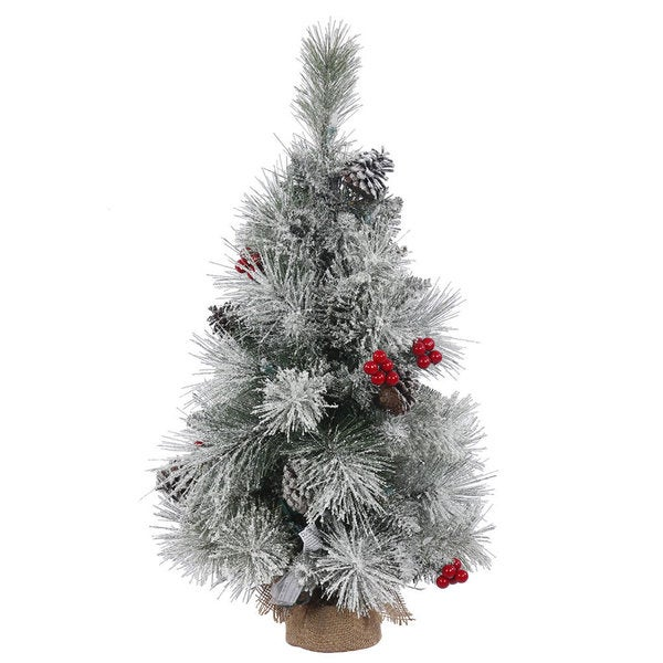 vickerman frosted mixed berry pine 24 inch unlit artificial christmas tree