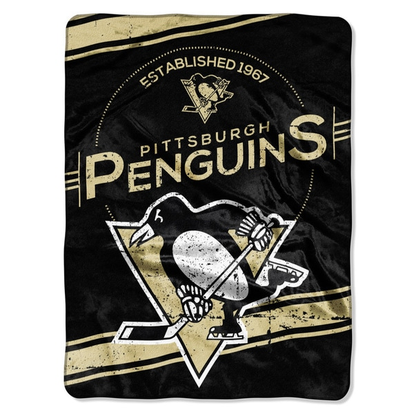 NHL 801 Penguins Stamp Raschel Throw