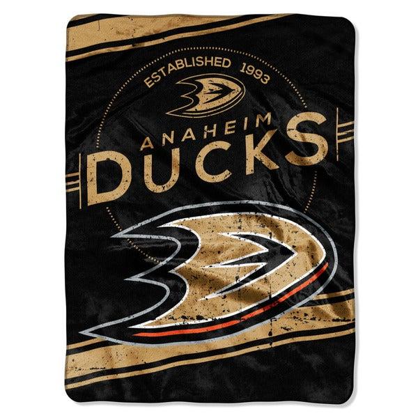 NHL 801 Ducks Stamp Raschel Throw