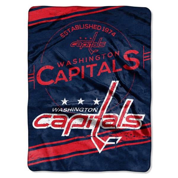 NHL 801 Capitals Stamp Raschel Throw