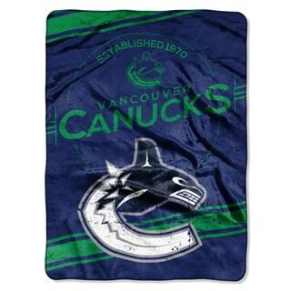 NHL 801 Canucks Stamp raschel Throw