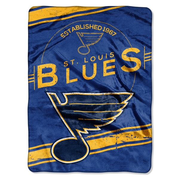 NHL 801 Blues Stamp Raschel Throw