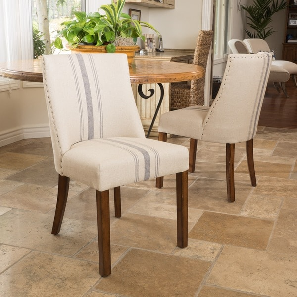 Striped Dining Room Chairs: Shop Christopher Knight Home Harman Dining Chair In Beige