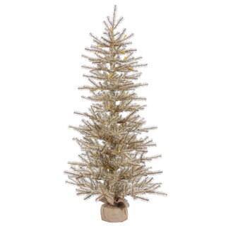 Mocha PVC Tinsel 48-inch Unlit Artificial Christmas Tree