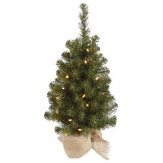 Vickerman Felton Pine 30-inch Unlit Artificial Christmas Tree