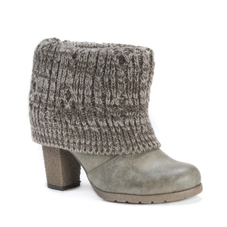 Muk Luks Women's Chris Brown Polyester/Faux Leather Moccasin Boots