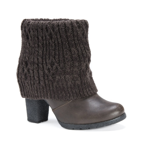Official Site For Sale Nicekicks MUK LUKS Chris Boot(Women's) -Dark Brown Knit Good Selling Sale High Quality Shop Offer Cheap Price gzLQW5K
