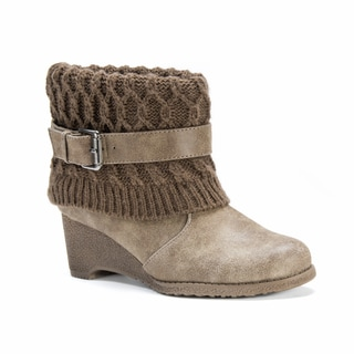 Muk Luks Women's Deena Brown Synthetic Boots