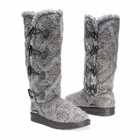 Muk Luks Women's Felicity Grey Polyester/Faux-fur Boots
