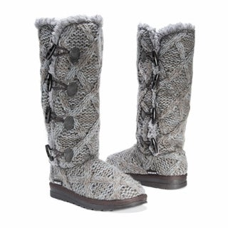 Muk Luks Women's Felicity Grey Polyester/Faux-fur Boots