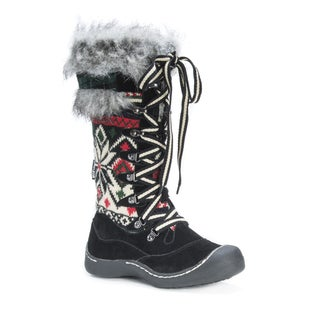 MUK LUKS Women's Gwen Multicolored Polyester/Faux-fur Snowboots
