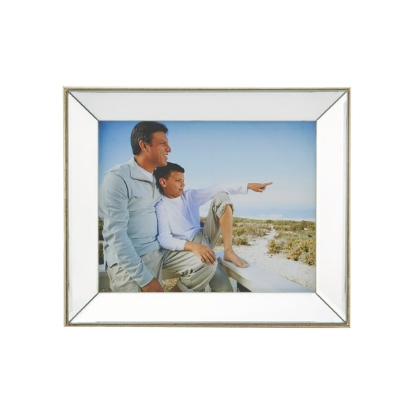 Shop Mikasa 8x10 Champagne Plastic Mirror Frame - Free Shipping On ...
