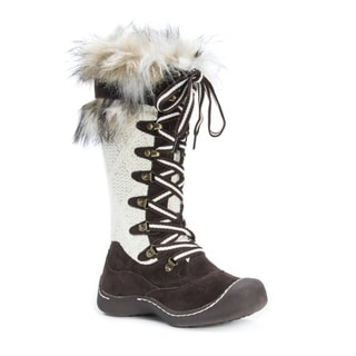 MUK LUKS Women's Gwen Brown Faux-fur/Polyester Knee-high Snow Boots