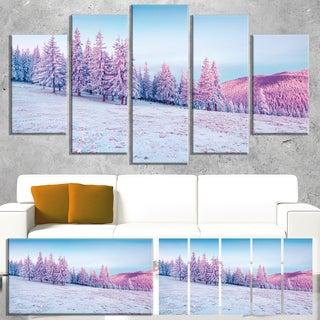 Winter Sunrise in Mountains - Landscape Wall Art