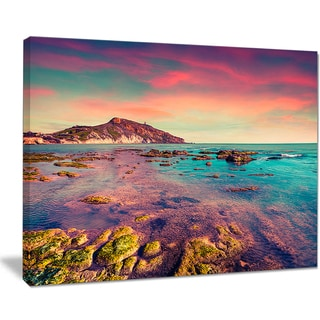 Giallonardo Beach Colorful Sunset - Seashore Wall Art