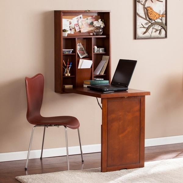 shop harper blvd darryl fold down wall mount desk free shipping today overstock 12112582. Black Bedroom Furniture Sets. Home Design Ideas