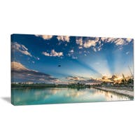 Moving Clouds Over Lake - Landscape Photo Canvas Art Print