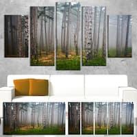 Dense Misty Forest - Landscape Photography Canvas Print - Green