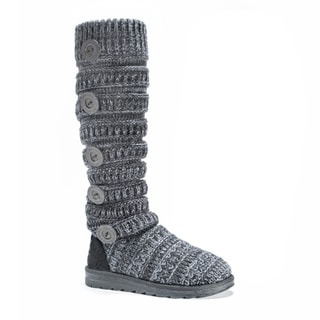 Muk Luks Women's Miranda Grey Polyester Boots