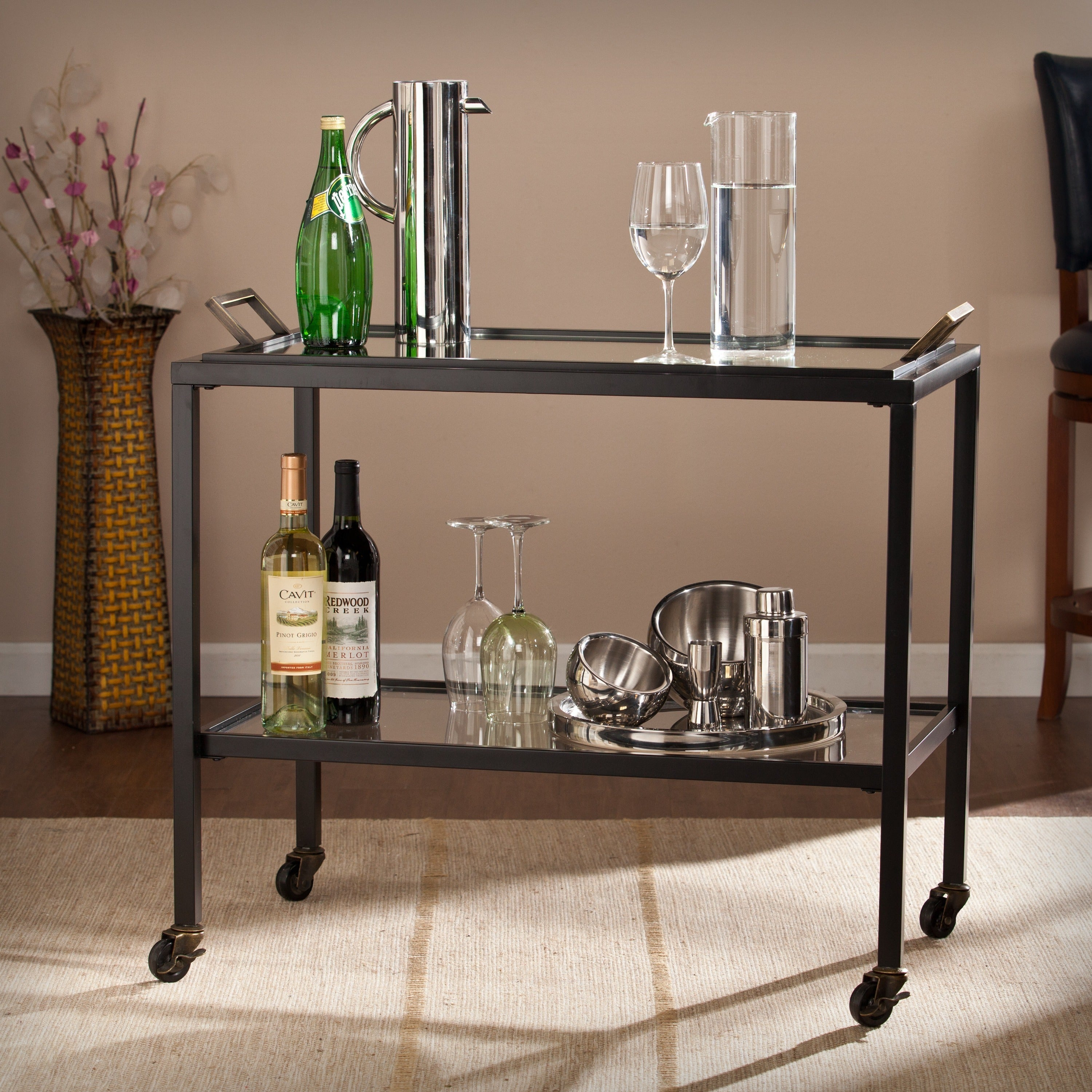 Harper Blvd Kirsten Bar Cart with Removable Tray