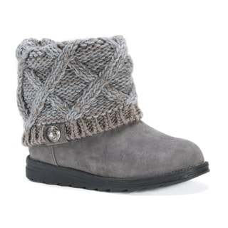 Muk Luks Women's Patti Brown Polyester/Wool/Faux-suede Boots