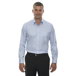 Men's Taped Strike Jacquard Cool Blue Two-Ply Polyester Wrinkle-Free Shirt