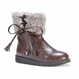 Muk Luks Women's Shirley Brown Faux-leather Boots