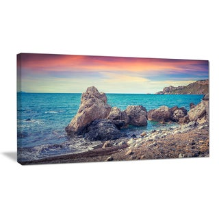 Sunrise in Spring Panorama - Seashore Canvas Artwork Print
