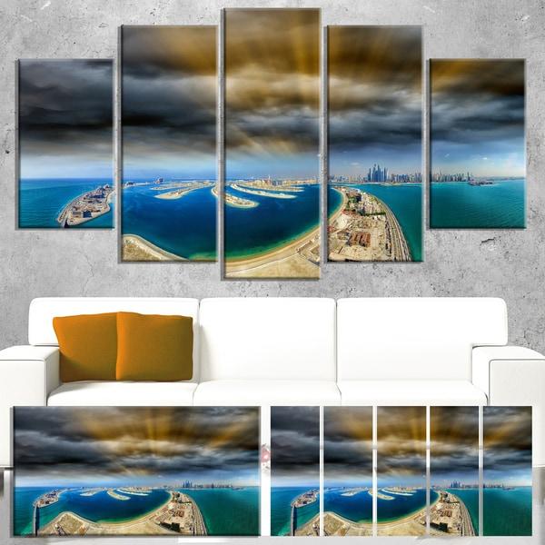 Shop Dubai Jumeirah Palm Aerial View - Seascape Wall Art - On Sale ...
