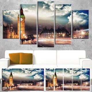Big Ben from Westminster Bridge - Cityscape Photo Canvas Print
