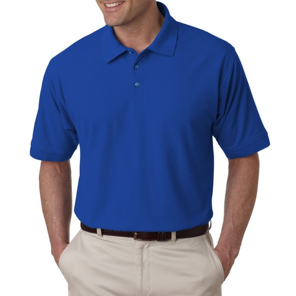 Tall Whisper Mens Royal Blue Pique Polo Shirt