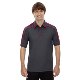 Sonic Men's Black Silk/Sport Red Performance Polyester Pique Polo T-shirt (3 options available)