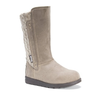 MUK LUKS Women's Stacy Brown Polyester Mid-calf Boots