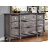 LYKE Home Stassi Grey Metal, Pine, Veneer 9-drawer Dresser