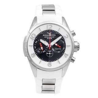 Aquaswiss Trax 5H Unisex White and Silver Stainless Steel Watch|https://ak1.ostkcdn.com/images/products/12112735/P18973754.jpg?impolicy=medium